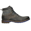 Kožená obuv s modrými detaily bata, šedá, 896-2679 - 15