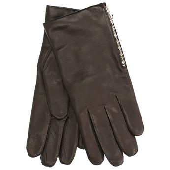 Pánské kožené rukavice se zipem junek, hnědá, 924-4030 - 13