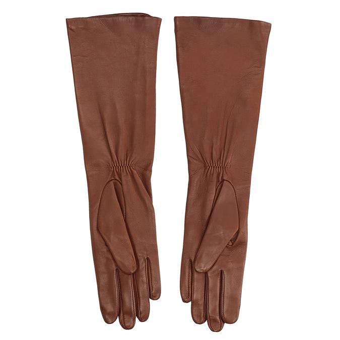 Dámské kožené rukavice junek, hnědá, 924-3005 - 16