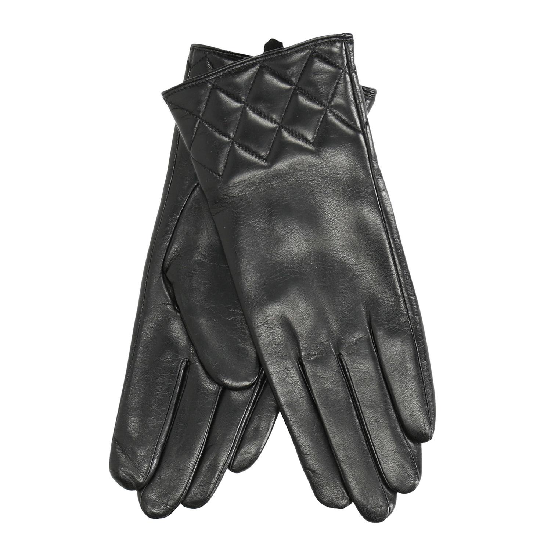 Baťa Dámské kožené rukavice černé - Dámské  07100c9481
