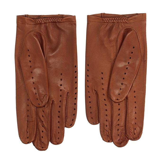 Kožené rukavice junek, hnědá, 904-3001 - 16