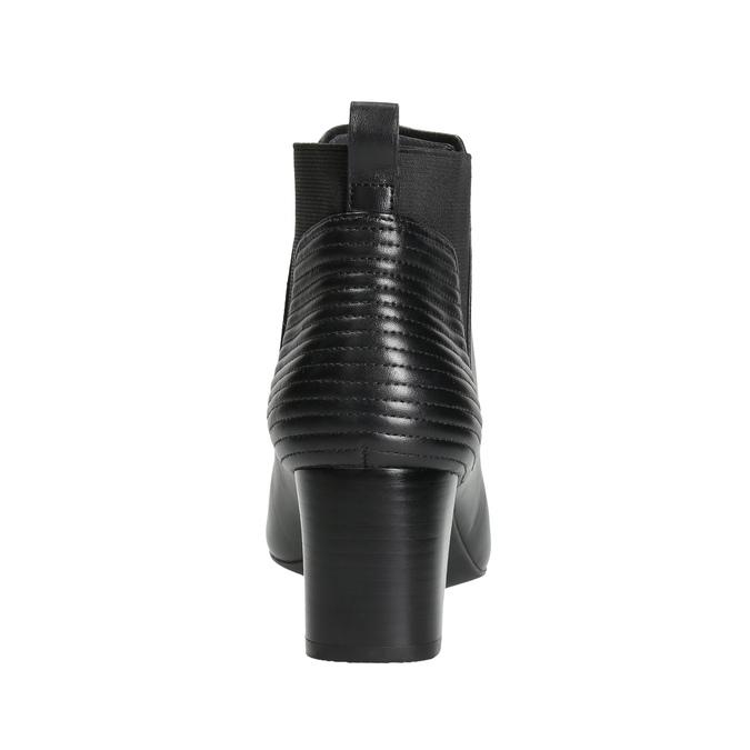Kožené kozačky na stabilním podpatku rockport, černá, 714-6053 - 17