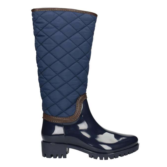 Modré dámské holínky bata, modrá, 592-9402 - 26
