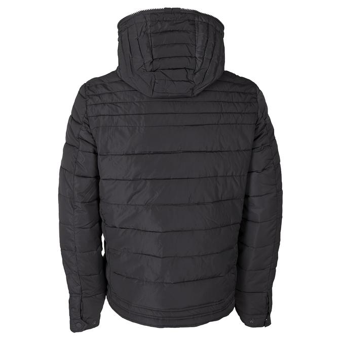 Pánská prošívaná bunda s kapucí bata, šedá, 979-2130 - 26