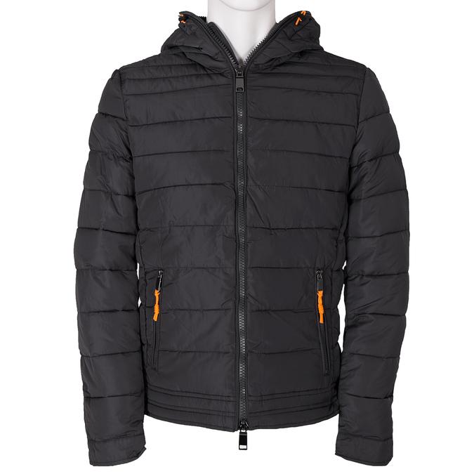 Pánská prošívaná bunda s kapucí bata, šedá, 979-2130 - 13