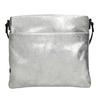 Stříbrná kožená Crossbody kabelka bata, stříbrná, 963-1192 - 26