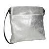 Stříbrná kožená Crossbody kabelka bata, stříbrná, 963-1192 - 13