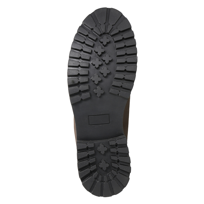 Kožená kotníčková obuv pánská weinbrenner, hnědá, 896-4656 - 17