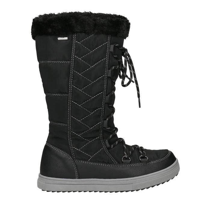 Dámské sněhule s prošíváním bata, černá, 599-6621 - 26