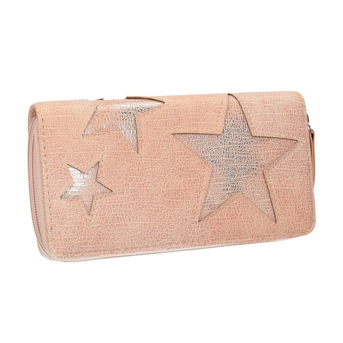 Růžová peněženka s hvězdami bata, růžová, 941-5154 - 13