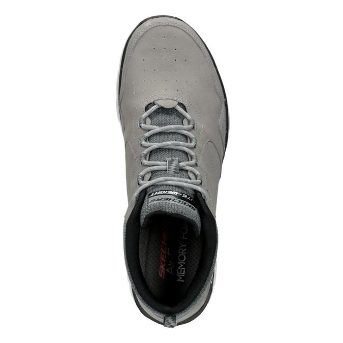 Kožená kotníčková obuv pánská skechers, černá, 806-6327 - 17