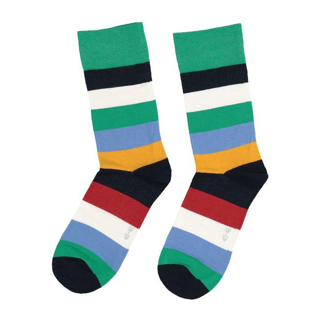 Barevné pruhované ponožky bata, 919-5651 - 26