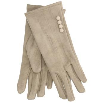 Dámské textilní rukavice s knoflíčky bata, béžová, 909-8612 - 13