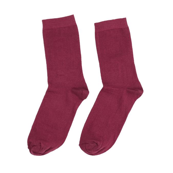 Dámské vínové ponožky bata, červená, 919-5303 - 26