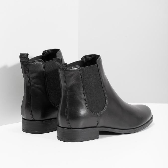 Dámské kožené Chelsea Boots bata, černá, 594-6661 - 16