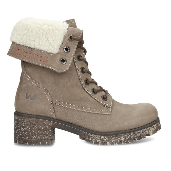 Kožená dámská zimní obuv weinbrenner, hnědá, 696-4336 - 19