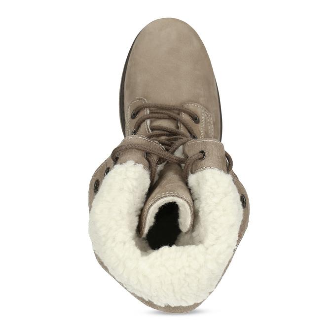 Kožená dámská zimní obuv weinbrenner, hnědá, 696-4336 - 17