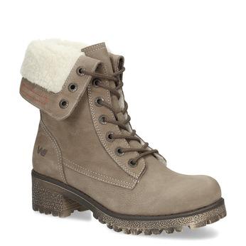 Kožená dámská zimní obuv weinbrenner, hnědá, 696-4336 - 13