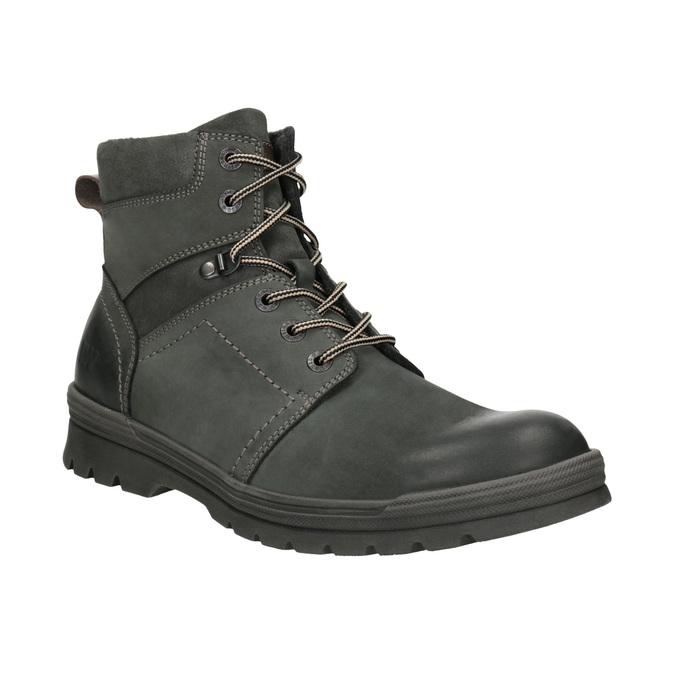 Kožená kotníčková obuv weinbrenner, šedá, 896-2703 - 13