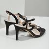 Dámské společenské sandály s kamínky bata, černá, 729-6611 - 16