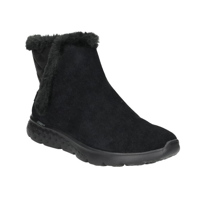 Dámská obuv z broušené kůže skechers, černá, 503-6326 - 13
