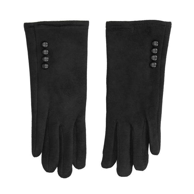 Dámské textilní rukavice bata, černá, 909-6612 - 26