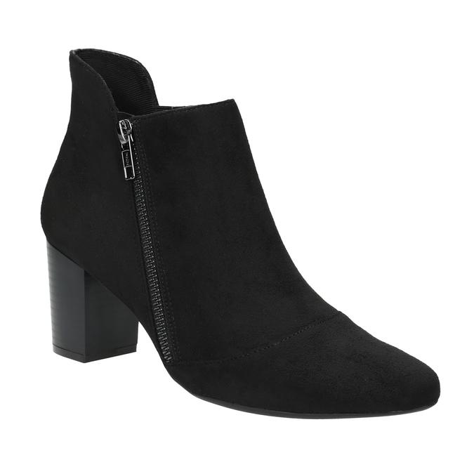 Kožená kotníčková obuv na podpatku rockport, černá, 713-6056 - 13