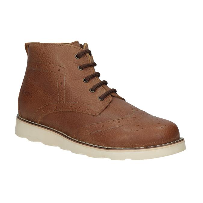 Dětská kožená kotníčková obuv primigi, hnědá, 314-3004 - 13