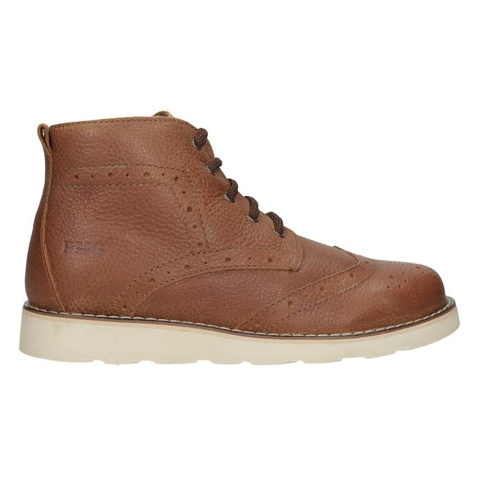 Dětská kožená kotníčková obuv primigi, hnědá, 314-3004 - 16