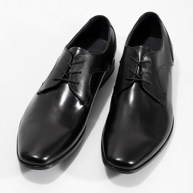 Kožené černé pánské polobotky bata, černá, 824-6758 - 16