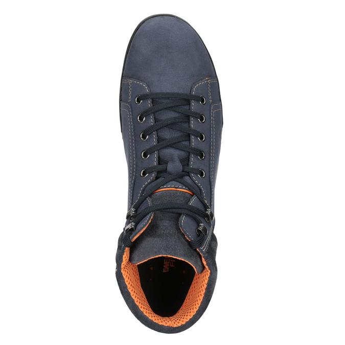 Kožená kotníčková obuv ve sportovním stylu weinbrenner, modrá, 896-9706 - 15