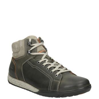 Kožená kotníčková obuv ve sportovním stylu weinbrenner, šedá, 896-2706 - 13