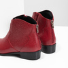 Červená kotníčková obuv bata, červená, 594-5665 - 18