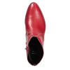 Červená kotníčková obuv bata, červená, 594-5665 - 17