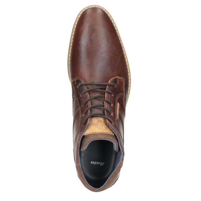 Pánská kožená kotníčková obuv bata, hnědá, 826-3926 - 15