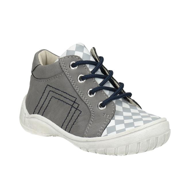 Dětská kotníčková obuv bubblegummers, šedá, 111-2626 - 13