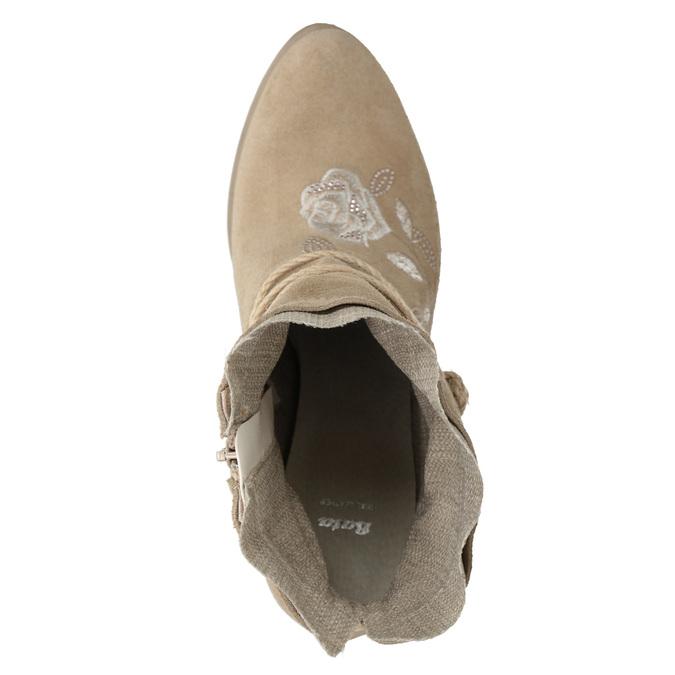 Kotníčkové kozačky s výšivkou a kamínky bata, 696-2655 - 17