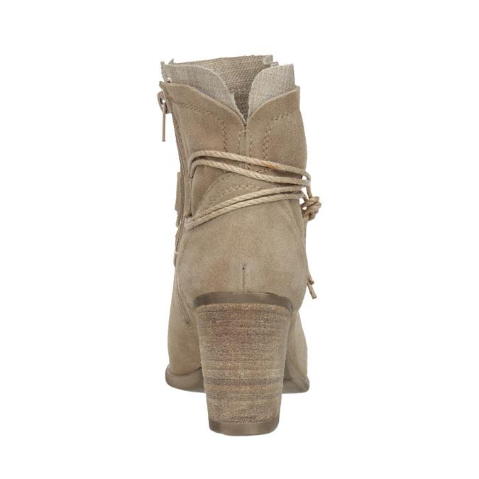 Kotníčkové kozačky s výšivkou a kamínky bata, 696-2655 - 15