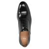 Černé kožené polobotky v Oxford střihu bata, černá, 824-6626 - 15