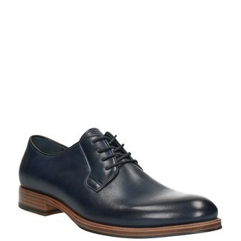 Modré kožené polobotky bata, modrá, 826-9810 - 13