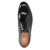 Černé kožené Derby polobotky bata, černá, 824-6863 - 15