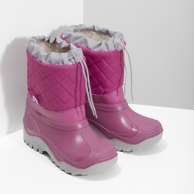 Dívčí růžové sněhule mini-b, 392-5201 - 26