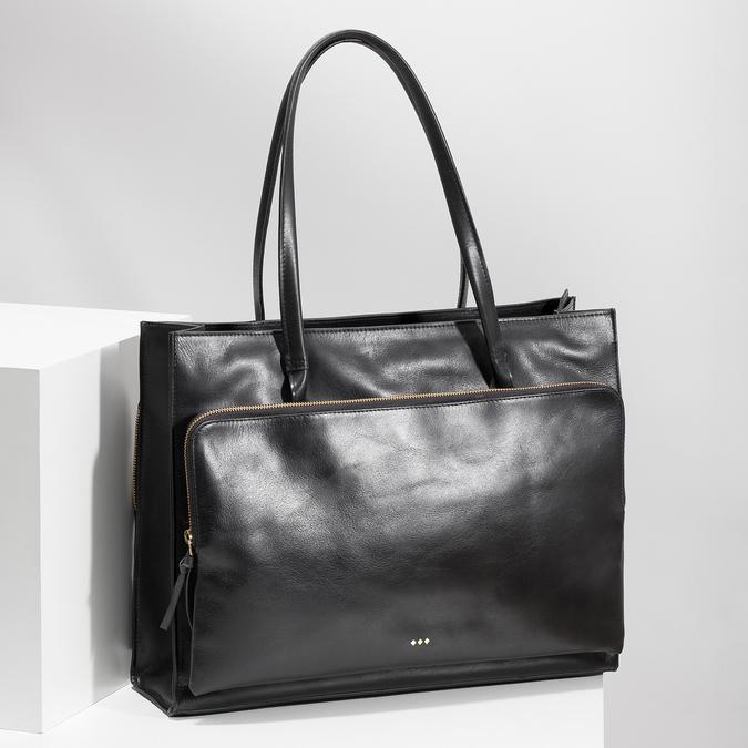 Kožená kabelka dámská royal-republiq, černá, 964-6066 - 17