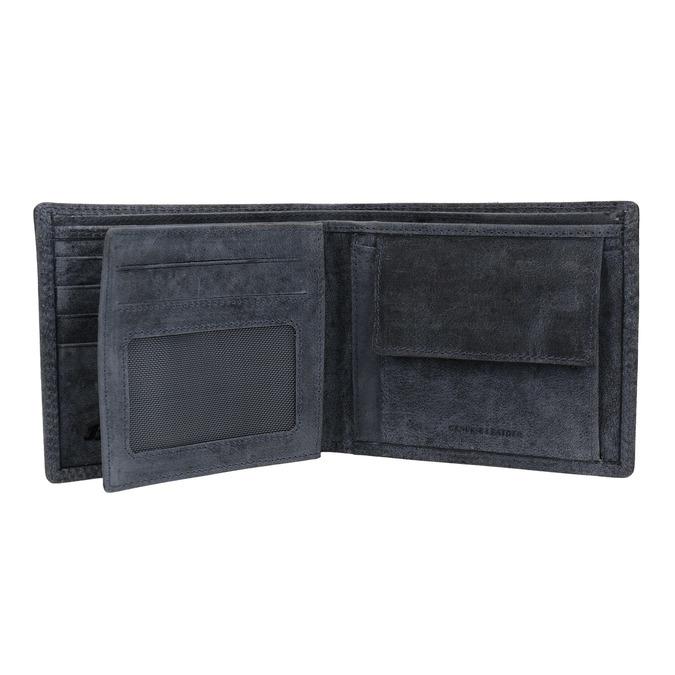 Pánská kožená peněženka modrá bata, 944-9207 - 15