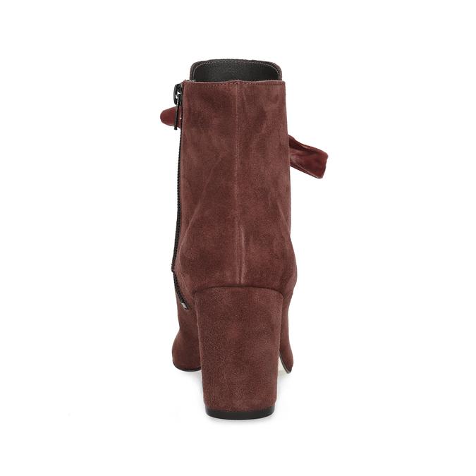 Kožené červené kotníčkové boty bata, červená, 793-5613 - 15