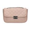 Crossbody kabelka s prošitím na klopě bata, růžová, 961-9826 - 26