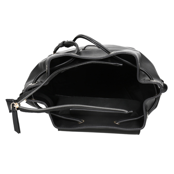 Černý batoh s poutkem bata, černá, 961-6858 - 15