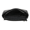 Crossbody kabelka z prošitím bata, černá, 961-6826 - 15