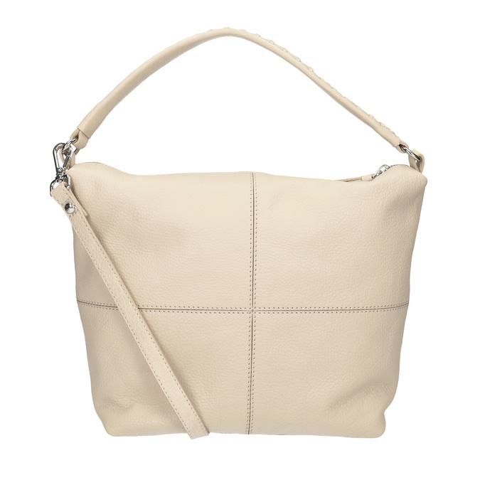 Krémová kožená Hobo kabelka bata, béžová, 964-8290 - 16