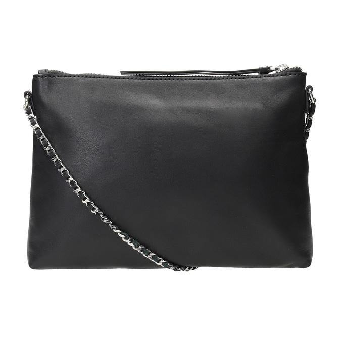 Černá kožená Crossbody kabelka bata, černá, 964-6292 - 16